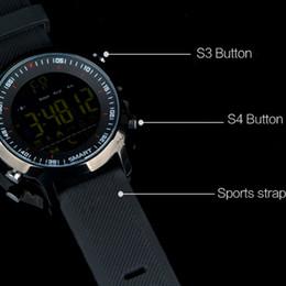 Sms relógio de pulso on-line-EX18 Relógio Inteligente Esporte Smartwatch Pedômetro Bluetooth Relógio de Pulso Atividade Rastreador IP67 À Prova D 'Água Chamada de Apoio e SMS alerta para IOS DHL