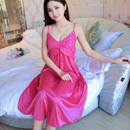 bcdf409167 Women Sexy Silk Satin Pajama Sleevelss Pyjama Femme Bow Tie Pijama Set Sleeveless  Sleep Wear Nightwear Fashion Indoor Clothing sexy women sleeping clothes ...