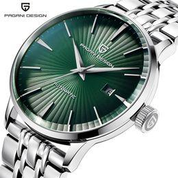 orologi di design pagani Sconti PAGANI Design Brand Luxury New Fashion quadrante verde completo acciaio inossidabile orologio meccanico da uomo impermeabile da polso reloj hombre