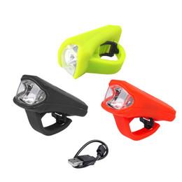 Super helle nacht lichter online-OUTAD Silikon Fahrrad Scheinwerfer F611 Rücklicht Nacht Radfahren Frontlicht USB Wiederaufladbare Fahrradlampe Super Bright Bike