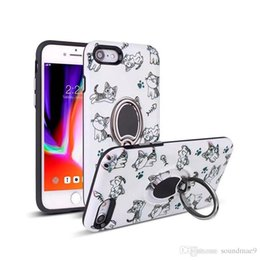 Canada Étui de téléphone cellulaire hybride de décoration de carton avec support arrière magnétique TPU PC pour iPhone X 8 7 6plus Samsung s9 8 plus OPP sac Soundmae Offre