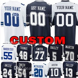 Custom Dallas Jersey Cowboys 12 Roger Staubach 8 Troy Aikman 54 Jaylon  Smith 13 Michael Gallup 10 Ryan Switzer 70 Zack Martin 5 Dan Bailey 59779594c