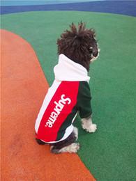 Grandes sudaderas para perros online-Hot Brand Design Dog Sweatshirts Diseño de la marca del perro con capucha sudaderas sueltas Teddy Puppy Warm Winter Outwear grueso del animal doméstico Hip Hop Apparel