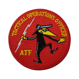 tactical jeans Coupons - TACTICAL OPERATIONS OFFICER AFF Police Embroidery patch for Clothing Jeans Bag Decoration Iron on Patch Free Shipping