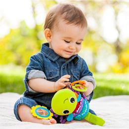 2019 gefüllte tierbetten Bett Kinderwagen Stofftiere Baby Geschenk Kawaii Kinder hängen Rassel Stofftiere Tier Musical Entwicklungsspielzeug günstig gefüllte tierbetten