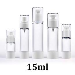 Canada Flacon pompe à airless cosmétique avec aérosol d'émulsion de plastique 15 ml Offre