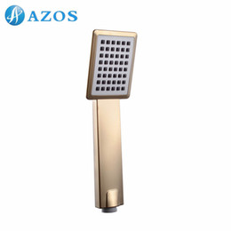 Wholesale Faucet System - Bathroom Shower Head Handheld Shower Head Showering System Replacement Nickel Brush Gold   Stainless Steel 2 Color HHS013