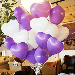 Wholesale latex heart shaped balloons - 2.2g thick wedding decoration birthday room colorful heart-shaped inflatable latex balloons Festive atmosphere supplies wholesale chinese