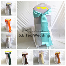 Wholesale Chair Ties For Sale - Hot Sale Satin Chair Sash \ Chair Tie Bow For Lycra Spandex Chair Cover Decoration