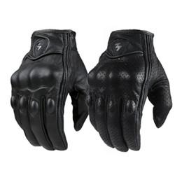 Мотоцикл перчатки спорта на открытом воздухе полный палец мотоцикл езда защитная броня черный короткие кожаные перчатки тренажерный зал для мужчин для женщин от