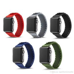 Reloj de silicona sin hebilla. online-1 UNIDS Nueva correa de reloj Sin correa de hebilla iwatch S2 S3 sin clip de silicona correa de reloj inteligente 38mm42mm