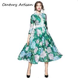 CYAN Élégant Floral Imprimer Robe De Bal Robes De Soirée Femmes 2018 Mode Patchwork Dentelle Robe Femme Casual Automne Hiver Robe 2XLX82302 ? partir de fabricateur