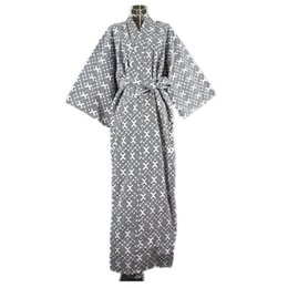 Wholesale Robe Belt - 2017 Cool Traditional Japanese Male Kimono Men's Robe Yukata 100% Cotton Men's Bath Robe Kimono Sleepwear with Belt 62502