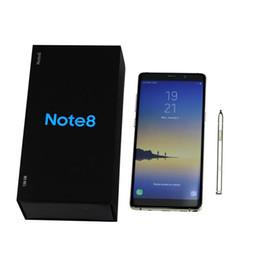 Примечания для гуафона онлайн-Разблокирована Note8 6,3-дюймовый Note 8 Goophone Quad Core 1280 * 720 Android 1G Ram 8 ГБ / 16 ГБ Rom с сенсорным экраном ID 4G LTE мобильный телефон DHL
