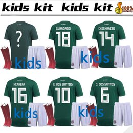 1f5f1ea64 Discount mexico national soccer team jerseys - 2018 World Cup Mexico Kids  kit+socks Soccer