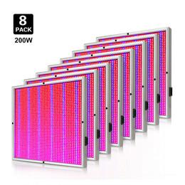 Melhor espectro completo levou crescer luzes on-line-8 pçs / lote 200 W AC85-265V Full Spectrum 2009 LEDs Vermelho Azul Levou Crescer Lâmpada Do Painel SMD2835 Crescer Luz Melhor Venda