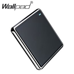 Большая рама для стен онлайн-1 Gang Cross настенный выключатель Big Button Black 1 Gang 3-полосный настенный выключатель питания с хромированной рамкой