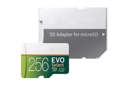 Wholesale Uhs Sd Card - NEW 2018 Best Selling 32GB 64GB 128GB 256GB EVO select micro SD Micro SD SDHC 80MB   s UHS-I Class10 Removable Memory Card DHL Free