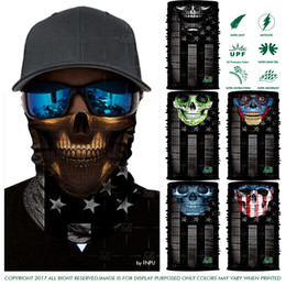 Wholesale Love Express - EXPRESS SHIPPING Super 3D Design Outdoors Headwears Cycling Sport Skull LOVE USA Multifunction USA Flag Bandana Scarf Face Mask