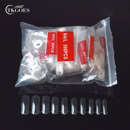 unhas acrílicas de forma livre Desconto TKGOES 500 pcs Dual Nails System Forma para Acrílico UV Francês Falso Nail Art Tip + Frete Grátis SKU: YWH035