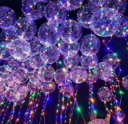 2019 111 globos 2017 Nuevo Light Up Toys LED String Lights Flasher Iluminación Balloon Wave Ball 18 pulgadas Helio Globos Navidad Juguetes de Decoración de Halloween