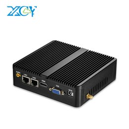 Wholesale Ram Graphics Card - XCY Celeron mini PC 3205U 2LAN 2COM Commercial Computer Hosts 4G RAM 128G SSD WIFI Integrated Graphics TV BOX PC