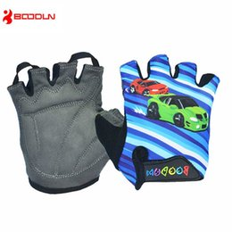 Wholesale boys road bikes - Boodun Brand Summer Boys Girls Cycling Gloves Half Finger Gel Pad Road Groves Mountain Bike Bicycle MTB Chilrden Gloves Guantes Ciclismo