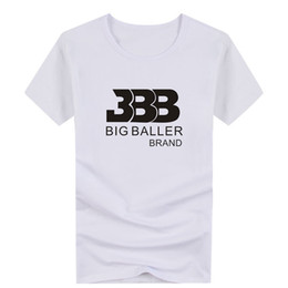 basketball black shirts Promo Codes - White Black T-shirt Ball Basketball Male Cotton Short Sleeved Loose BBB Tshirt men t shirt S-4XL