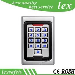 cartes de programmation Promotion Alliage de zinc basse fréquence lecteur de carte Rfid 125khz lecteur de carte d'accès sonnette de porte, métal lecteur de carte de clavier clavier