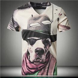 slim v neck camiseta Desconto 2018 verão nova impressão com decote em V Slim de manga curta T-shirt dos homens moda casual tamanho grande roupas masculinas S-5XL