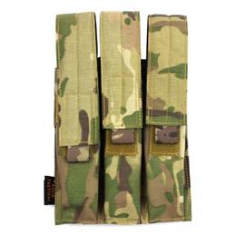 Argentina ROCOTACTICAL Tactical Molle Funda triple para revista, Kriss Pistol Mag Pouch - Verde del ejército / CP Multicam / Negro / TAN Suministro
