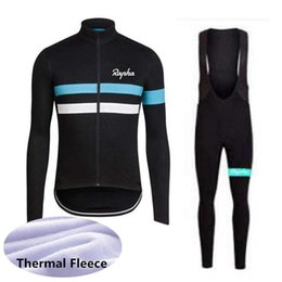 thermals suits Coupons - RAPHA team Cycling Winter Thermal Fleece jersey (bib) pants sets sport suit Simple and comfortable breathable 101414F