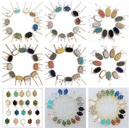 смешивать цвета камни ожерелье Скидка 10 стилей Druzy Drusy серьги ожерелье серебро золото смолы каменные ожерелья может сообщение смешанные цвета, как и хотел бы встретиться