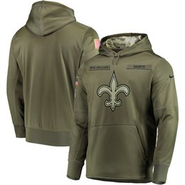 Sudadera de New Orleans Saints Salute to Service Sudadera con capucha Therma Performance Suéter verde oliva desde fabricantes