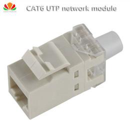 Wholesale wholesale network jacks - Wholesale- 2pcs lot UTP CAT6 network module gilt180 wire RJ45 connector information socket Computer Outlet Cable adapter Keystone Jack