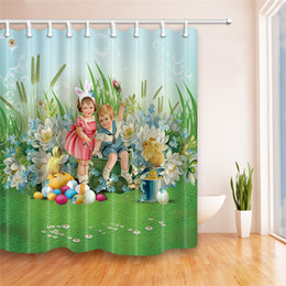 Wholesale Best Modern Classical - 180*180cm Easter shower curtain 5design Polyester waterproof Bath curtain Easter bunny eggs 3D Printing Cartoon shower curtains best