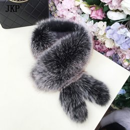 2019 натуральные шарфы 2018 New  Fur Collar Scarf With tail Natural real  Fur Scarves Shawl Genuine Neck warm collar дешево натуральные шарфы