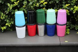 Wholesale Kids Tumblers Wholesale - 10pcs! 9oz kids Tumbler with lids straws Insulated Stainless Steel Tumbler Wine Cups Mugs School students mugs