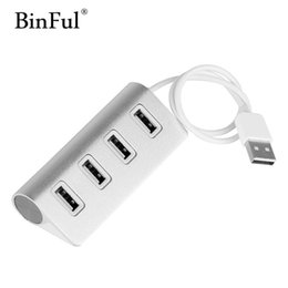 Wholesale usb imac - BinFul High Speed Aluminum USB Hub Premium 4 Port 2.0 cable for iMac MacBook Mac Mini or Any PC Laptop Notebook