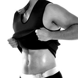 ff480356a7752 Hot Shapers Men Neoprene Vest Sauna Sweating Shapewear Ultra Slimming  Corset Belly Fat Burning Abdomen Reduce Compression Tanks
