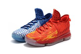 Wholesale Icing Store - KD 9 Fire And Ice Basketball shoes 2017 hot sales Top Athletic With Box KD 9 sneakers online Store free shipping us 7-12