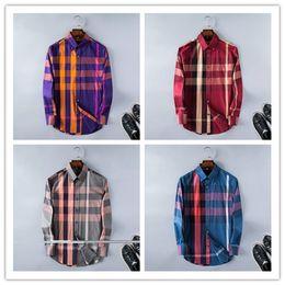 Wholesale Yellow Plaid Shirt Men - 2017 American business brand slim plaid shirt, long sleeved shirts, men's leisure on tenterhooks, Medusa men shirts
