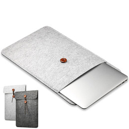 "laptop pouches china Promo Codes - Laptop Cover Case For Macbook Pro Air Retina Notebook Sleeve bag 12''11""13""15"" Wool Felt Ultrabook Sleeve Pouch Bag"