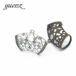 Wholesale Metal Charm Scarf - whole saleYuenZ 6pcs Beautiful hollow flower Scarf deduction Charm Antique Metal Alloy Pendants Findings Fit DIY Jewelry Making Q169