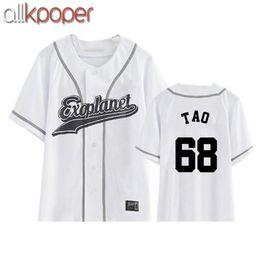 Wholesale Exo Chanyeol - ALLKPOPER New EXO Plane3 kpop exo chanyeol sehun xiumin baekhyun t-shirt women t-shirt women t shirt harajuku