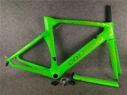 Wholesale carbon road bike frame xs - Green Colnago Concept complete carbon fiber Frame road bicycle bike Frame+fork+headset size XXS XS S M L XL A01