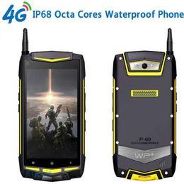 Wholesale waterproof walkie talkie radio - Dual Sim Dual Standby 2GB RAM 32GB ROM Rugged Android Waterproof Phone Octa Core UHF Walkie Talkie 1920x1080 IP68 V1 Mobile phone