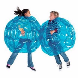 Wholesale Inflatable Pvc Ball - Inflatable Bump Ball 90CM PVC Color Optional Outdoor Sport Bubble Soccer Ball Body Zorb Ball Party Favors Brain Game Gifts For Kid