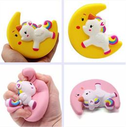 giocattoli di luna Sconti Vendita calda lento rimbalzo luna unicorno simulazione cartoon animali giocattolo decompressione giocattoli PU bambini giocattoli T3I0221