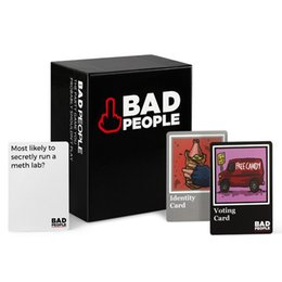 Wholesale Big Funny Cards - Adult Party Cards Game Bad People Basic Version The Party Game You Probably Shouldn't Play Board Funny Game
